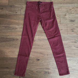 Flying Monkey | Skinny Leg Jeans Maroon | 27